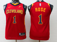 Youth Nba Cleveland Cavaliers #1 Derrick Rose Red Swingman Nike Jersey