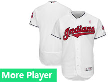 Mens Majestic Cleveland Indians White 2018 Mother's Day Home Flex Base Team Jersey