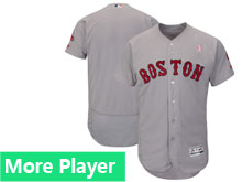 Mens Majestic Boston Red Sox Gray 2018 Mother's Day Home Flex Base Team Jersey