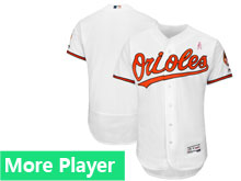 Mens Majestic Baltimore Orioles White 2018 Mother's Day Home Flex Base Team Jersey