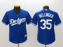 Youth Mlb Los Angeles Dodgers #35 Cody Bellinger Blue Cool Base Jersey