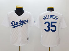 Youth Mlb Los Angeles Dodgers #35 Cody Bellinger White Cool Base Jersey