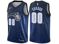 Mens 2017-18 Season Nba Orlando Magic #00 Aaron Gordon Nike City Edition Blue Jersey