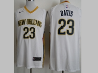Mens 2017-18 Nba New Season New Orleans Pelicans #23 Anthony Davis White Nike Jerseys