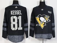 Mens Nhl Pittsburgh Penguins #81 Phil Kessel 100th Anniversary Black Adidas Jersey