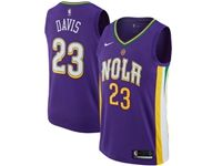 Mens Nike Nba Season New Orleans Pelicans #23 Anthony Davis Purple City Edition Jerseys