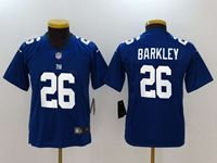 Women Youth Nfl New York Giants #26 Saquon Barkley Blue Vapor Untouchable Limited Nike Jersey