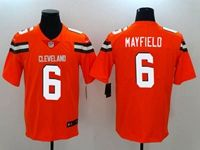 Mens Nfl Cleveland Browns #6 Baker Mayfield Orange Vapor Untouchable Limited Nike Jersey