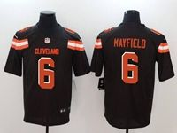 Mens Nfl Cleveland Browns #6 Baker Mayfield Brown Vapor Untouchable Limited Nike Jersey