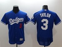 Mens Mlb Los Angeles Dodgers #3 Chris Taylor Blue Flex Base Player Jersey