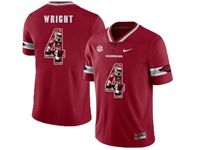 Mens Nike Ncaa Arkansas Razorbacks #4 Wright Red Printed Jersey
