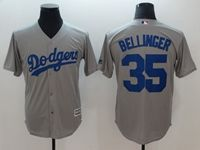 Mens Mlb Los Angeles Dodgers #35 Cody Bellinger Gray Cool Base Jersey