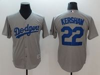 Mens Mlb Los Angeles Dodgers #22 Clayton Kershaw Gray Cool Base Jersey