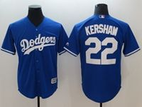 Mens Mlb Los Angeles Dodgers #22 Clayton Kershaw Blue Cool Base Jersey