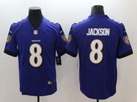 Mens 2018 New Nfl Baltimore Ravens #8 Lamar Jackson Purple Vapor Untouchable Limited Player Jersey