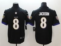 Mens 2018 New Nfl Baltimore Ravens #8 Lamar Jackson Black Vapor Untouchable Limited Player Jersey