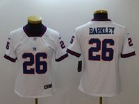 Women Youth Nfl New York Giants #26 Saquon Barkley White Vapor Untouchable Color Rush Limited Player Jersey