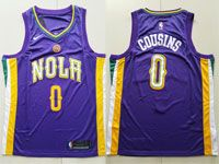 Mens Nike Nba New Orleans Pelicans #0 Demarcus Cousins Purple City Edition Swingman Jersey