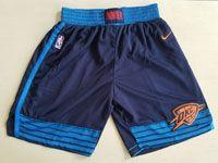 Mens 2017-18 Season Nba Oklahoma City Thunder Dark Blue Shorts