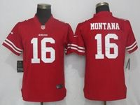 Women Nfl San Francisco 49ers #16 Joe Montana Red Vapor Untouchable Limited Player Jersey