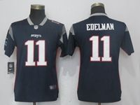 Women Nfl New England Patriots #11 Julian Edelman Navy Blue Vapor Untouchable Limited Player Jersey