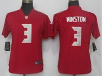 Women Nfl Tampa Bay Buccaneers #3 Jameis Winston Red Vapor Untouchable Color Rush Limited Player Jersey