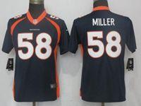 Women Nfl Denver Broncos #58 Von Miller Blue Vapor Untouchable Limited Player Jersey