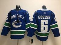Mens Nhl Vancouver Canucks #6 Brock Boeser Blue Adidas Player Jersey