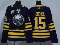 Women Youth Nhl Buffalo Sabres #15 Jack Eichel Blue Home Breakaway Adidas Jersey