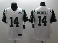 Mens New York Jets #14 Sam Darnold White Vapor Untouchable Limited Jersey