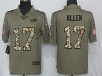 Mens Nfl Buffalo Bills #17 Josh Allen Green Olive Camo Carson 2017 Salute To Service Limited Jersey