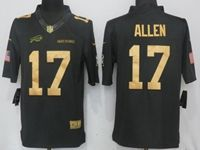 Mens Nfl Buffalo Bills #17 Josh Allen Anthracite Salute To Service Nike Limited Jersey