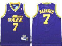 Mens Nba Utah Jazz #7 Pete Maravich Purple Adidas Mesh Hardwood Classics Jersey