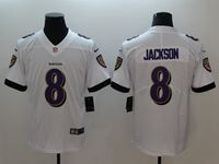 Mens 2018 New Nfl Baltimore Ravens #8 Lamar Jackson White Vapor Untouchable Limited Player Jersey