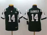 Women Youth New York Jets #14 Sam Darnold Green Vapor Untouchable Limited Player Jersey