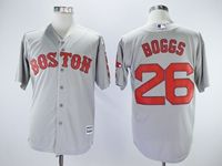 Mens Mlb Boston Red Sox #26 Wade Boggs Gray Cool Base Jersey