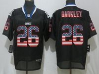 Mens Nfl New York Giants #26 Saquon Barkley Black Usa Flag Fashion Elite Nike Jerseys