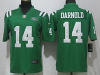 Mens Nfl New York Jets #14 Sam Darnold Green Color Rush Limited Jersey