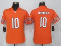Women Nfl Chicago Bears #10 Mitchell Trubisky Orange 2017 Vapor Untouchable Limited Player Jersey