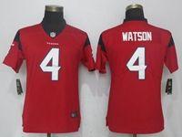 Women Nfl Houston Texans #4 Deshaun Watson Red 2017 Vapor Untouchable Limited Player Jersey