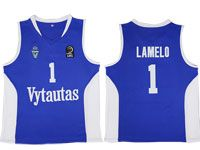 Nba Lithuania Vytautas #1 Lamelo Movie Basketball Blue Jersey