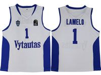 Nba Lithuania Vytautas #1 Lamelo Movie Basketball White Jersey