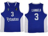 Nba Lithuania Vytautas #3 Liangelo Movie Basketball Blue Jersey