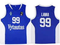 Nba Lithuania Vytautas #99 Lavar Movie Basketball Blue Jersey