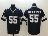 Mens Women Dallas Cowboys #55 Leighton Vander Esch Blue Vapor Untouchable Limited Jersey
