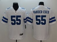 Mens Dallas Cowboys #55 Leighton Vander Esch White Vapor Untouchable Limited Jersey