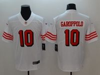 Mens Nfl San Francisco 49ers #10 Jimmy Garoppolo White Color Rush Vapor Untouchable Limited Jersey
