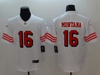 Mens Nfl San Francisco 49ers #16 Joe Montana White Color Rush Vapor Untouchable Limited Jersey