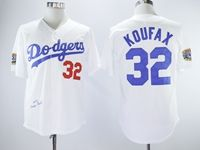 Mens Mlb Los Angeles Dodgers #32 Sandy Koufax White 1958 Throwbacks Cool Base Jersey