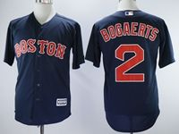 Mens Majestic Boston Red Sox #2 Xander Bogaerts Blue Cool Base Jersey
